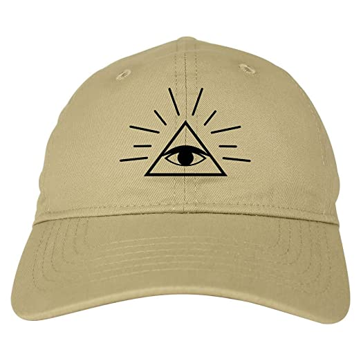 935afd2189e Kings Of NY All Seeing Eye of Providence God 6 Panel Dad Hat Cap Beige