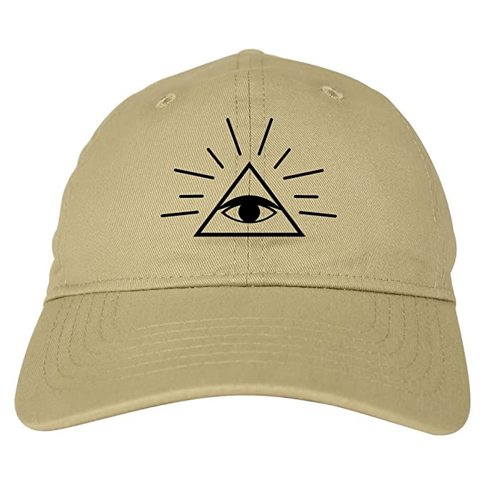 Kings Of NY All Seeing Eye of Providence God 6 Panel Dad Hat Cap Beige bf7cee28fce