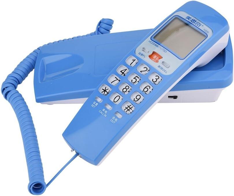 T/él/éphone Filaire Mural avec Haut-Parleur T/él/éphone dExtension pour Maison H/ôtel etc. T/él/éphone Fixe Bleu Bureau