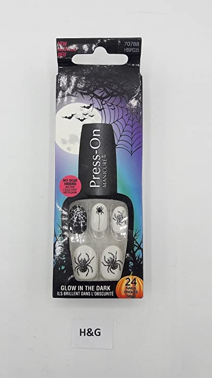 Kiss 70788 Collection Halloween press-on Manicure uñas postizas, contenido: 24 uñas,