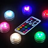 Flameless LED Tea Lights, Multi Color Option Battery-Powered, Unscented Mini Tealight with Remote Control, Perfect for Weddings Christmas Thanksgiving Holiday Party Lighting Strobe, (5lights+1remote)