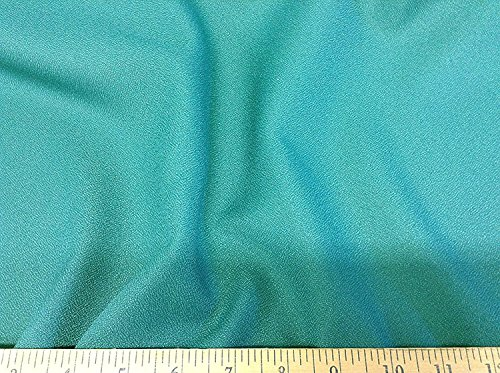 Swatch Sample Discount Fabric Momie Weave Crepe Drapery Turquoise DR11