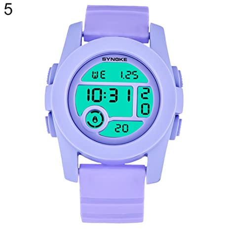 Pengyu Reloj digital, unisex, color fresco, relojes electrónicos, correr, resistente al