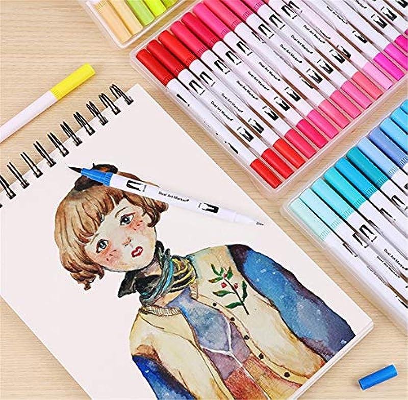 Kalligraphie-Pinsel-Marker mit zwei Spitzen, 48 Aquarellstifte, Kunstmarker, feine Spitze, für Tagebuch, Handschriften, Malbuch, Planer: Sport & Freizeit