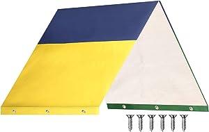 "Swing Set Replacement Tarp, 52x90""inch Playground Replacement Canopy,Outdoor Playset Canopy Replacement, Kids Playground Roof Canopy Waterproof Cover Swing Set Canopy Sun Shade"