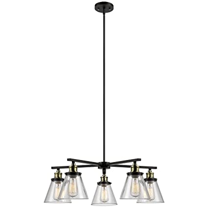 amazon com globe electric shae 5 light vintage edison chandelier