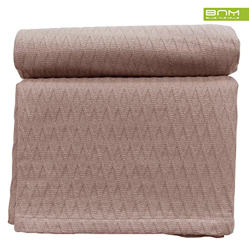 Diamond Twin/Twin XL Cotton Throw Blanket, Breathable Therma