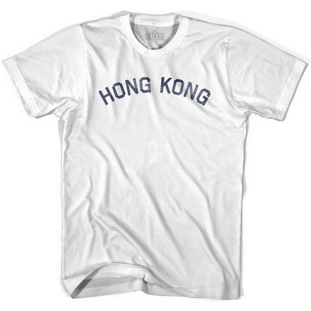 Hong Kong Vintage City Adult Cotton T-shirt