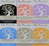 Dr. Woods Natural Pure Castile Bar Soaps made with Moisturizing Organic Shea Butter, 5.25 Ounce Bars Variety 6 Pack For Sale
