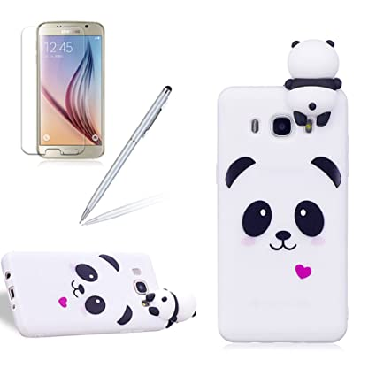 hot sale online 1ed09 15c69 Galaxy J5 2016 Case,Girlyard New Fashion Girly Lucky 3D Cute [Papa Animal  Pattern] Soft Silicone Practical Shockproof Slim Protective Case for  Samsung ...