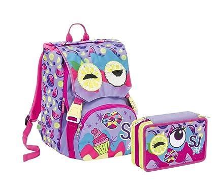 Schoolpack Mochila Escolar Seven SJ Gang Girl Cara Violeta + ...