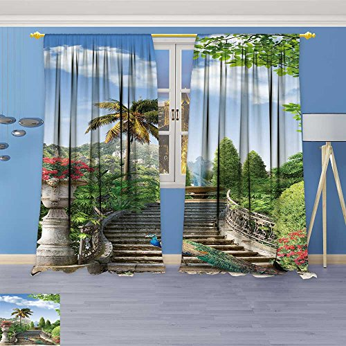 - SOCOMIMI 715 Panel Set Digital Printed Window Curtains,Landscape for Bedroom Living Room Dining Room, 72W x 72L inch