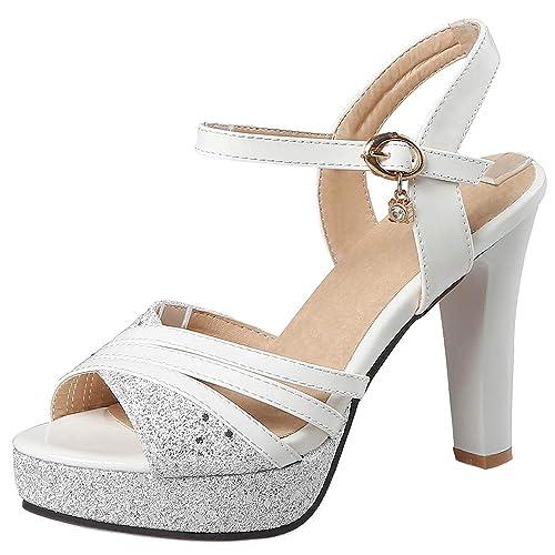 fccf888691 BeiaMina Mujer Moda Tacón Alto Sandalias Plataforma: Amazon.es: Zapatos y  complementos