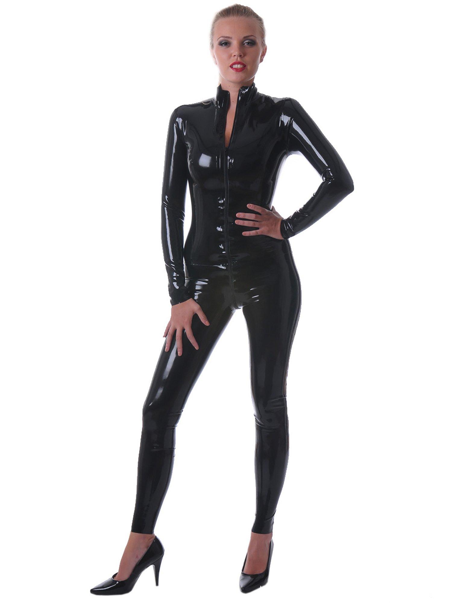 Honour Women's Catsuit in Rubber Black size UK 16 (XL)