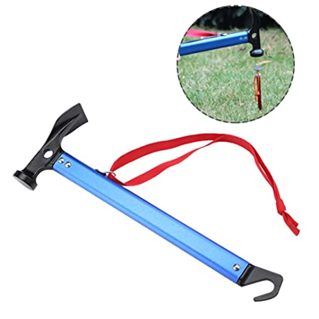 Tent Hammer Stake Remover Portable Aluminium Alloy Hammerhead Tent Peg Stake Puller (Blue)  sc 1 st  Amazon.com & Amazon.com : Tent Hammer Stake Remover Portable Aluminium Alloy ...