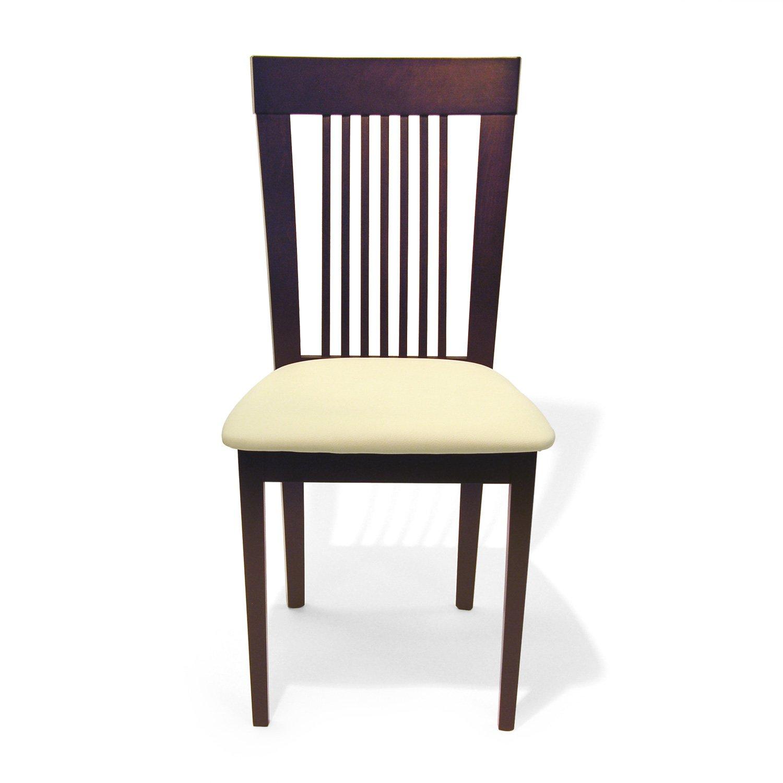 Amazon com aeon hartford solid beechwood dining chairs coffee finish set of 2 chairs