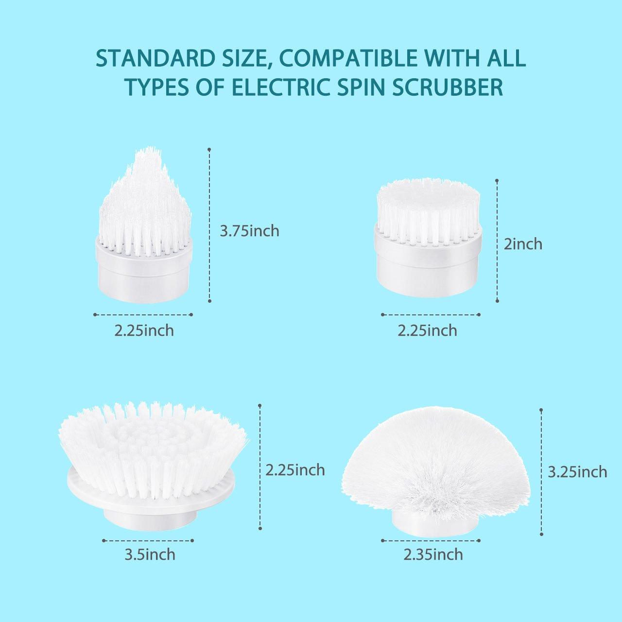 Amazon.com: Homitt 4pcs Power Spin Scrubber Replacement Brush Heads ...