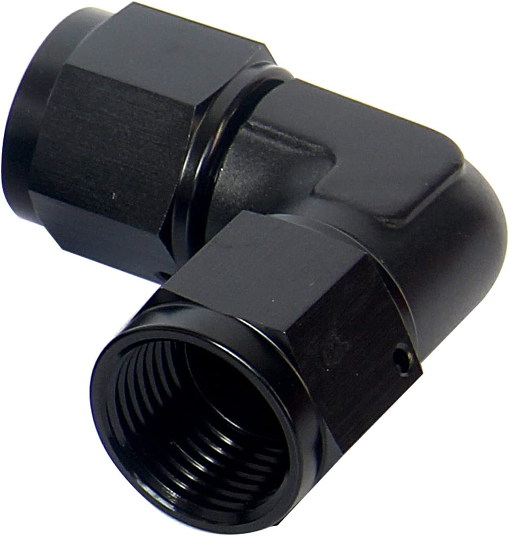 Female 6AN AN6 To 5//16 Barb Straight Swivel Hose Fitting Aluminum Hose Barb Fuel Line Adapter Black Anodized