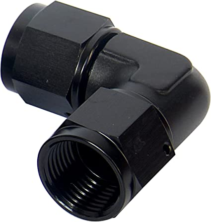 Russell by Edelbrock 614807 Black 8 AN 90 Degree Male AN to Female AN Fitting