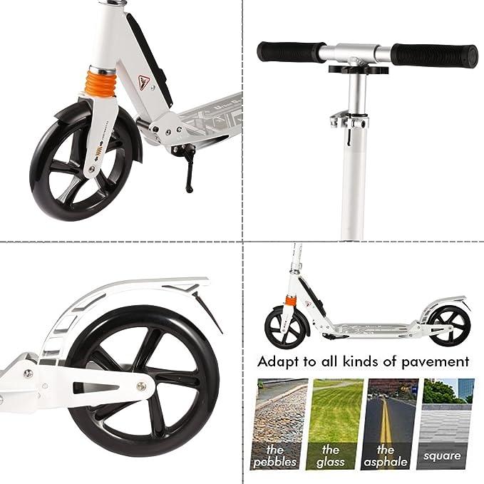 busyall adulto/adolescente Kick Scooter, 2 ruedas patinete ...