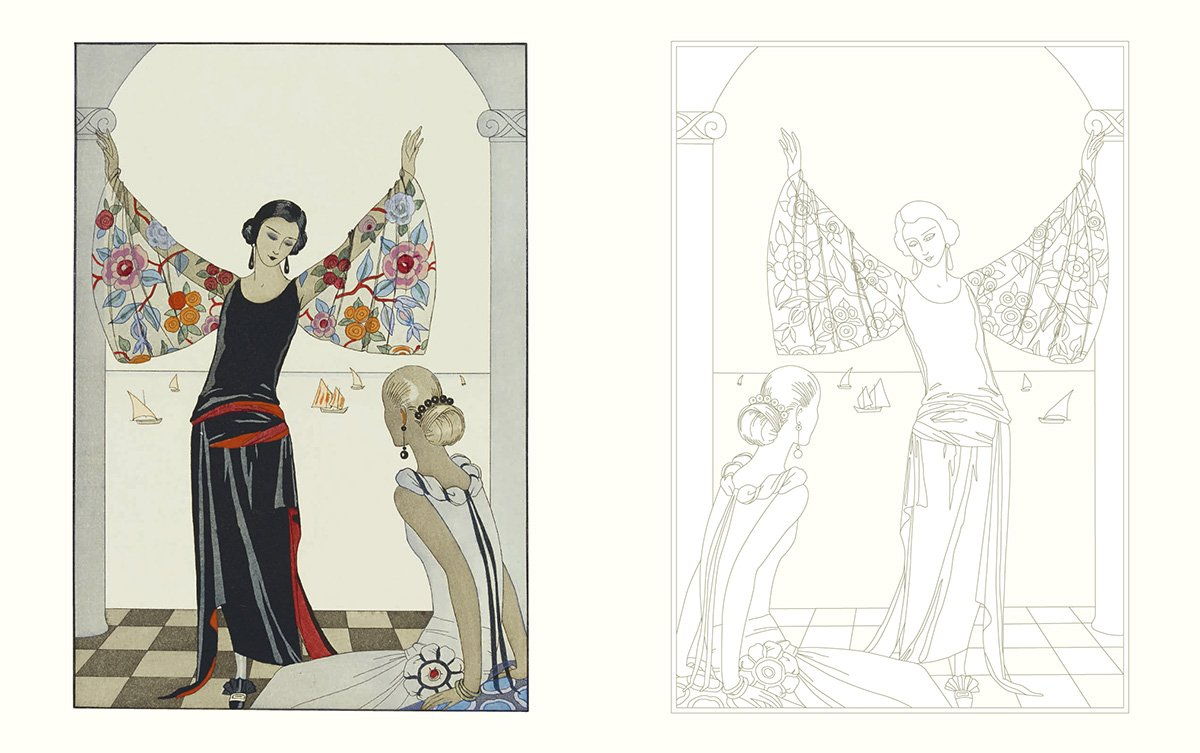 The Age Of Glamour An Art Deco Coloring Book VA 9780500420690 Amazon Books