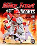 Mike Trout Los Angeles Angels 2012 AL Rookie of the Year Composite Photo 8x10