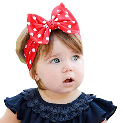 Sparkling Bows Baby Girl Headband Elastic Bowknot Infant Kids Baby Hair Band
