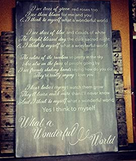 Amazon ruskin352 personalized 5th wedding anniversary wood wall ruskin352 what a wonderful world custom wood sign lyrics custom wood sign song lyrics whole song solutioingenieria Images
