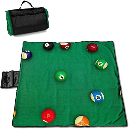 NA Time Carve Pool Bolas de Billar en el Escritorio Verde Manta de Picnic portátil Plegable