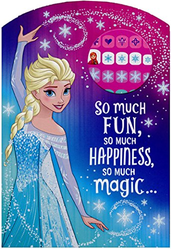 Frozen Princess Elsa So Much Fun Juvenile Disney Birthday Card for Girl with Fingernail -