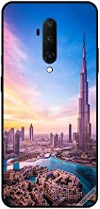 For OnePlus 7T Pro Case Cover Sunny Clouds Reflections On Burj Khalifa