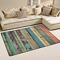 Sunlome Vintage Plank Barnwood Pattern Area Rug Rugs Non-Slip Indoor Outdoor Floor Mat Doormats for Home Decor 60 x 39 inches