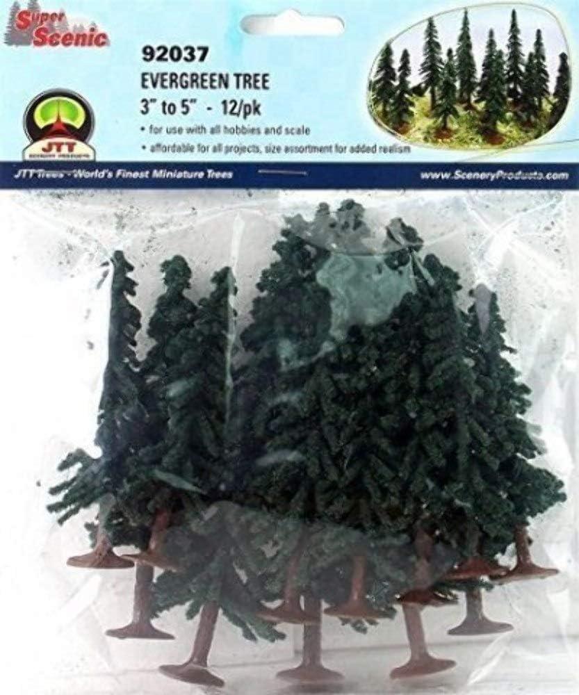 JTT Scenery Products JTT92037 Super Scenic Tree, Evergreen 3-5