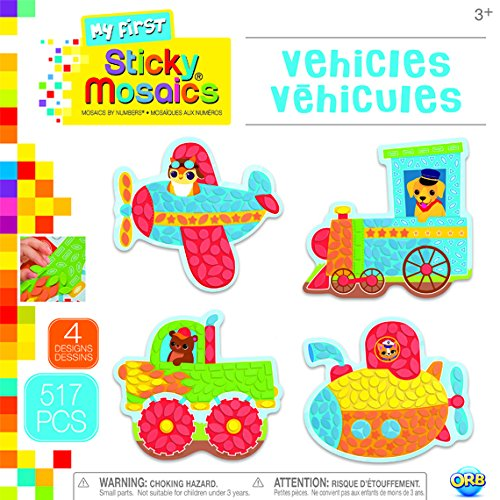 The Orb Factory Sticky Mosaics My First Vehicles Arts /& Crafts 9.5 x 1.5 x 9.5 Blue//Red//Green//Yellow