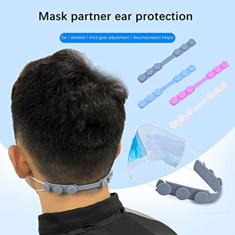 10 Pack Masks Hook Ear Protector Adjustable Extension Buckle Ear Rope Adjustable Extend The Buckle Non-Slip Relax Ears for Adult Universal,Silicone