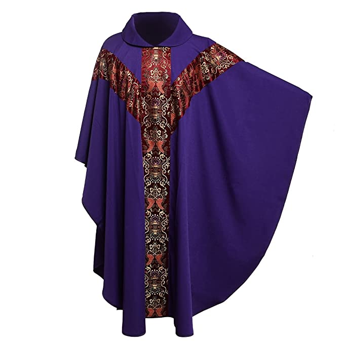 Priest Église Robe Catholique De Fête Blessume Celebrant Chasuble vmNn80w