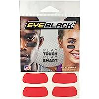 Red Football Baseball Softball Eye Black Strips, 2 Pairs