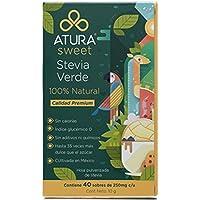Stevia natural 40 sobres 100% hoja de stevia verde