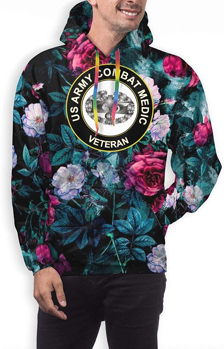 MUSICOT Mens Athletic Pullover Cozy Sport Outwear US Army Combat Medic Veteran Sweatshirt Hoodies