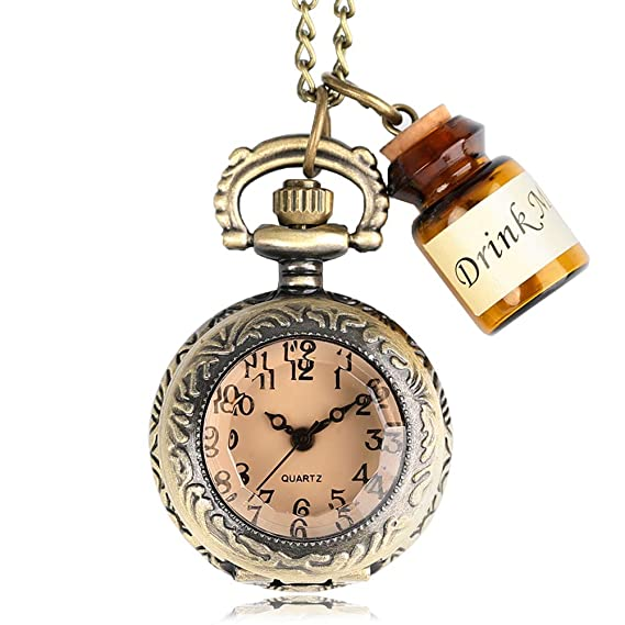 Amazon.com: Mens Pocket Watch, Vintage Glass Pocket Watch Necklace, Gift for Men: Watches