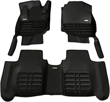TuxMat Custom Car Floor Mats for Honda Fit 2014-2020 Models/- Laser Measured Largest Coverage Full Set - Black Also Look Great in the Summer./The Best/Honda Fit Accessory. Waterproof All Weather The Ultimate Winter Mats