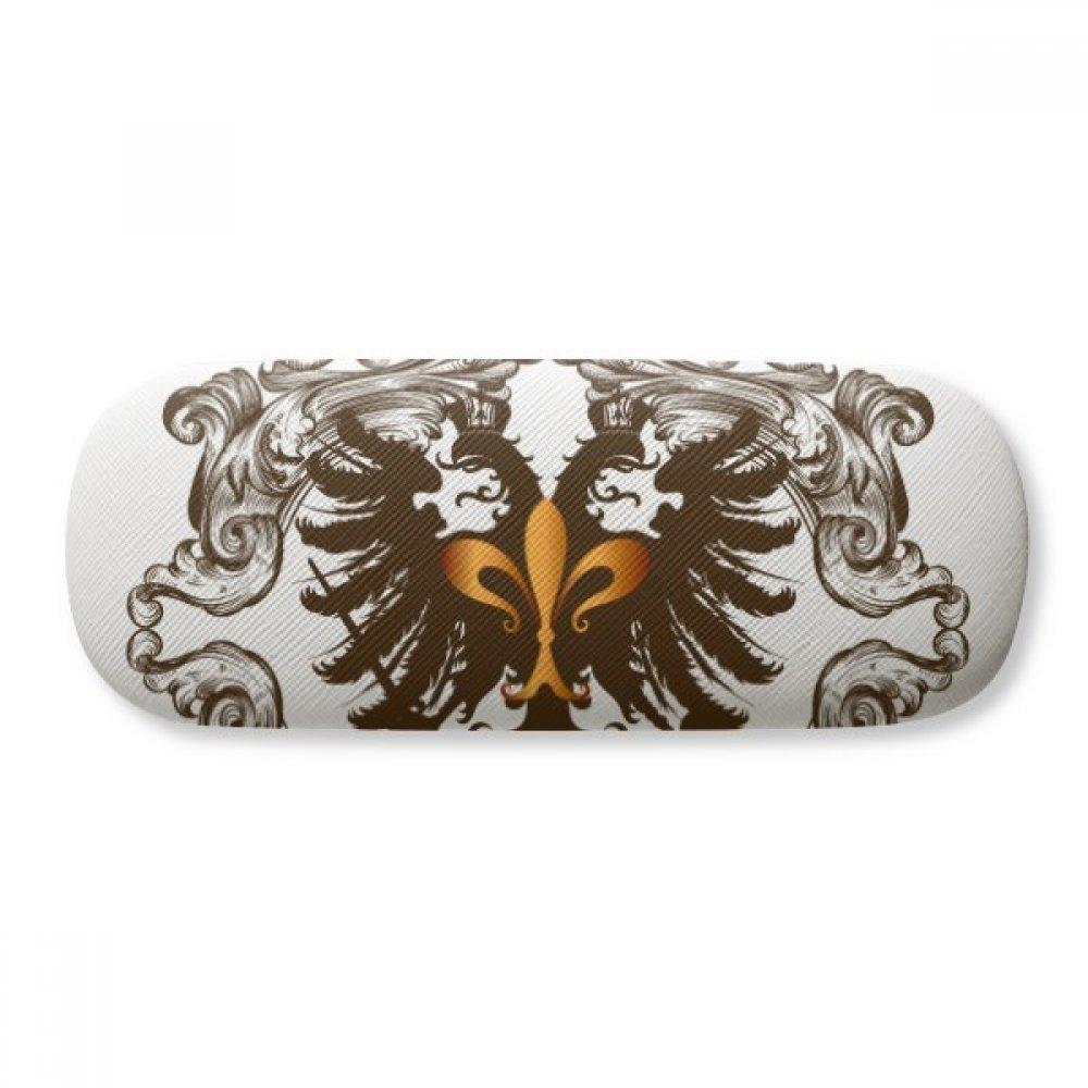 Double-headed Eagle Emblem Europe Glasses Case Eyeglasses Clam Shell Holder Storage Box