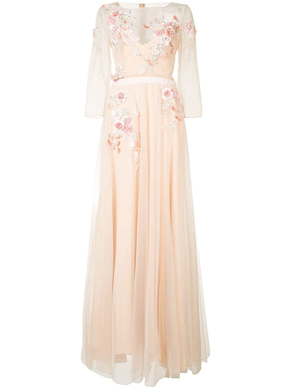 44232a1aa657 Top1: Marchesa Notte Women\'s 3/4 Sleeve Beaded Tulle Evening Gown