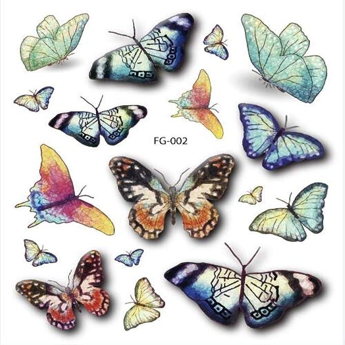 adgkitb 5piezas Colorido Brillo libélula Arte Falso Tatuaje para ...
