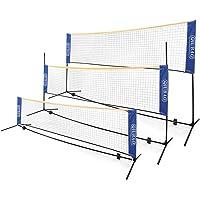 QIUBAO - Juego de red portátil de bádminton – Viene con bolsa de transporte, red fácil de configurar para tenis, tenis…