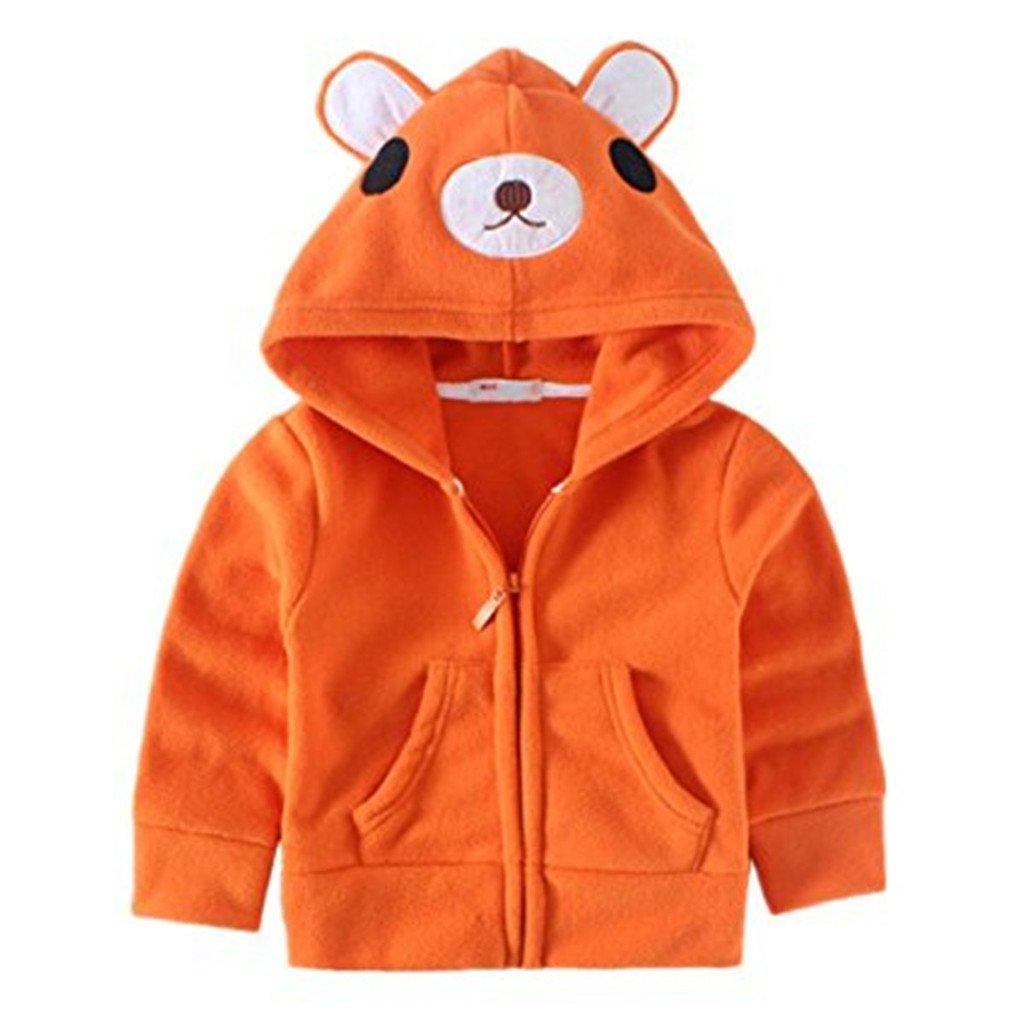 JELEUON Kids Baby Unisex Fleece Animal Cartoon Hoodies Jackets Outwear
