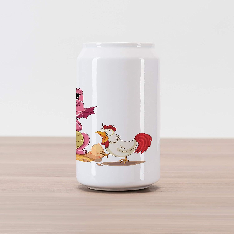 Amazon.com: Lunarable Jurassic Cola Can Shape Piggy Bank ...