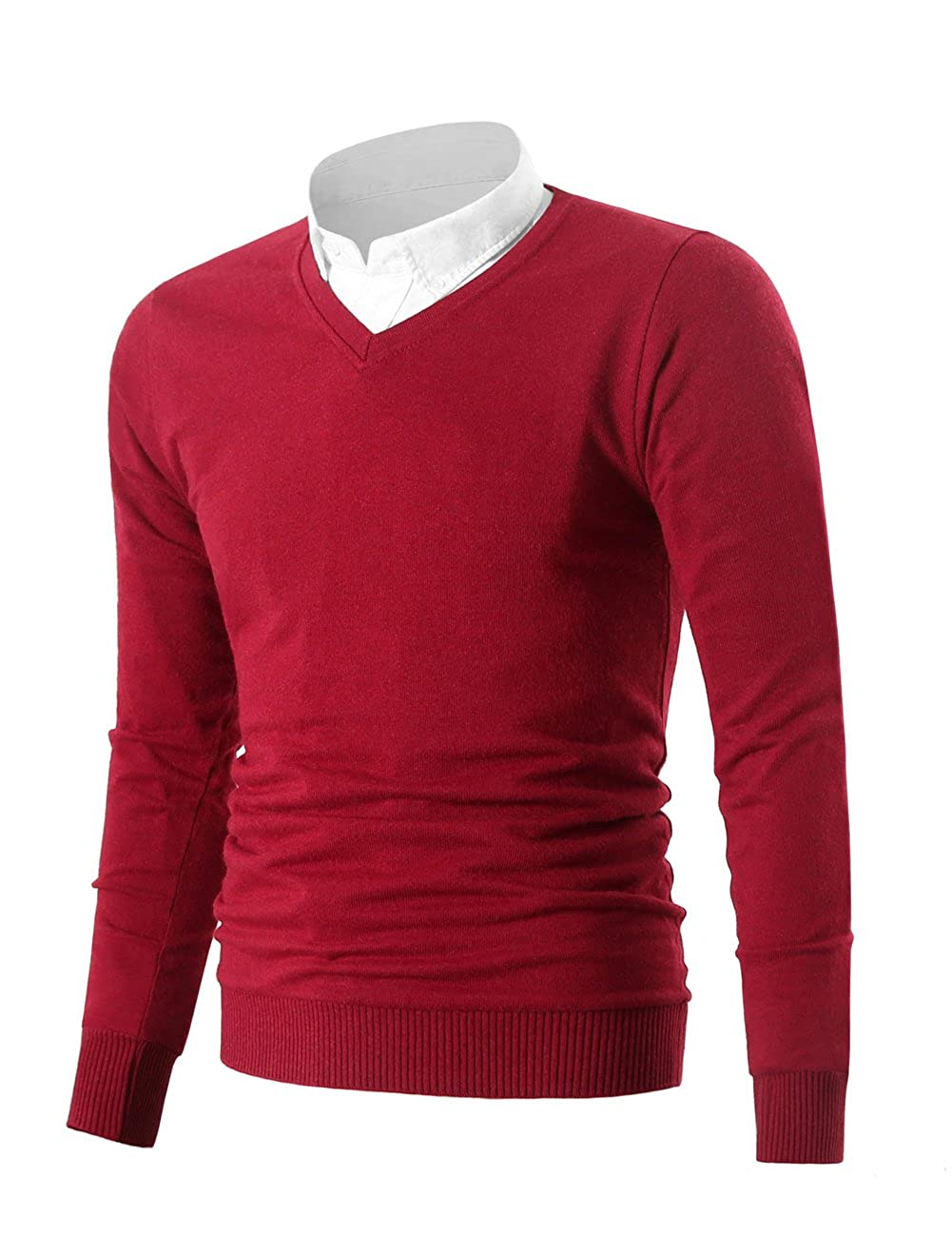 498b5ca86c2 Mesahara Mens Casual Slim Fit Knit V-Neck Pullover Sweater at Amazon Men s  Clothing store