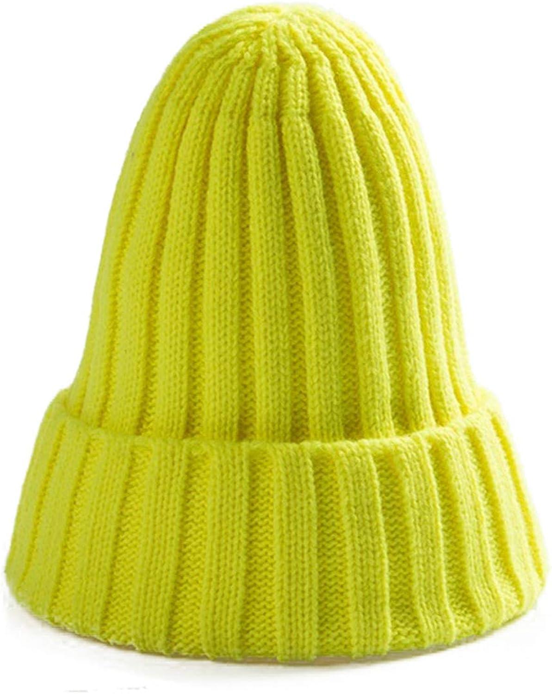 Krystal/_beautiful Autumn Winter Men Women Parent Child Wool Hat Curling Cap Winter Hat Warm Solid Knit Pointed Hat