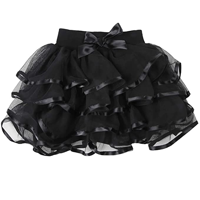 9d3cbd5cbfca Amazon.com  storeofbaby Little Big Girls Tutu Skirt 4-Layered Tulle ...